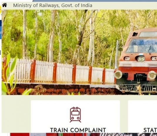 Indian Rail Official Website List