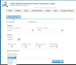 FLIGHT TICKET BOOKING :: IRCTC
