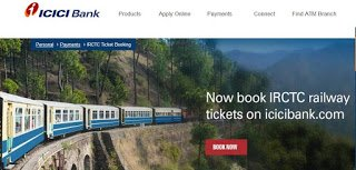 ICICI Bank allowed IRCTC Ticket Booking online