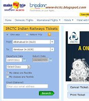 Make My Trip Alternative booking Website for IRCTC