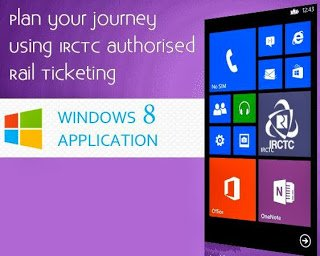 IRCTC Introduced a new Windows 8 Mobile Application