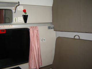 Interior of Rajdhani Express