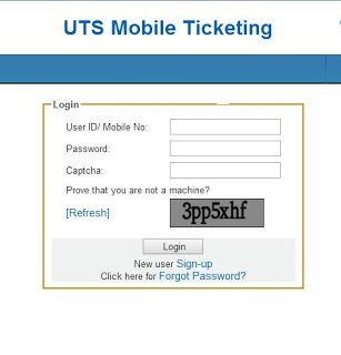 UTS Mobile Ticketing by Indian Railway