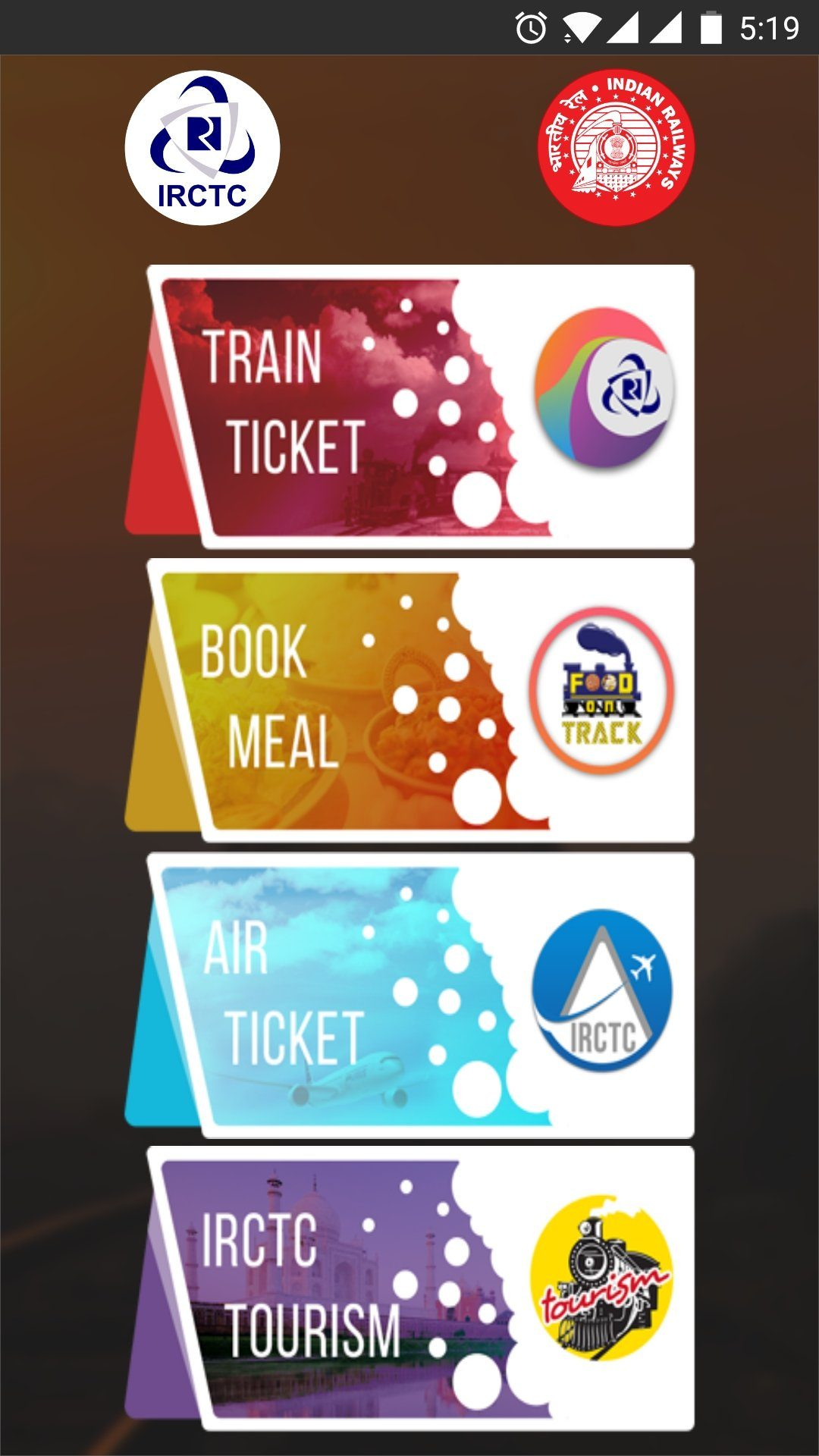 IRCTC Mobile Applications ~ Download Online