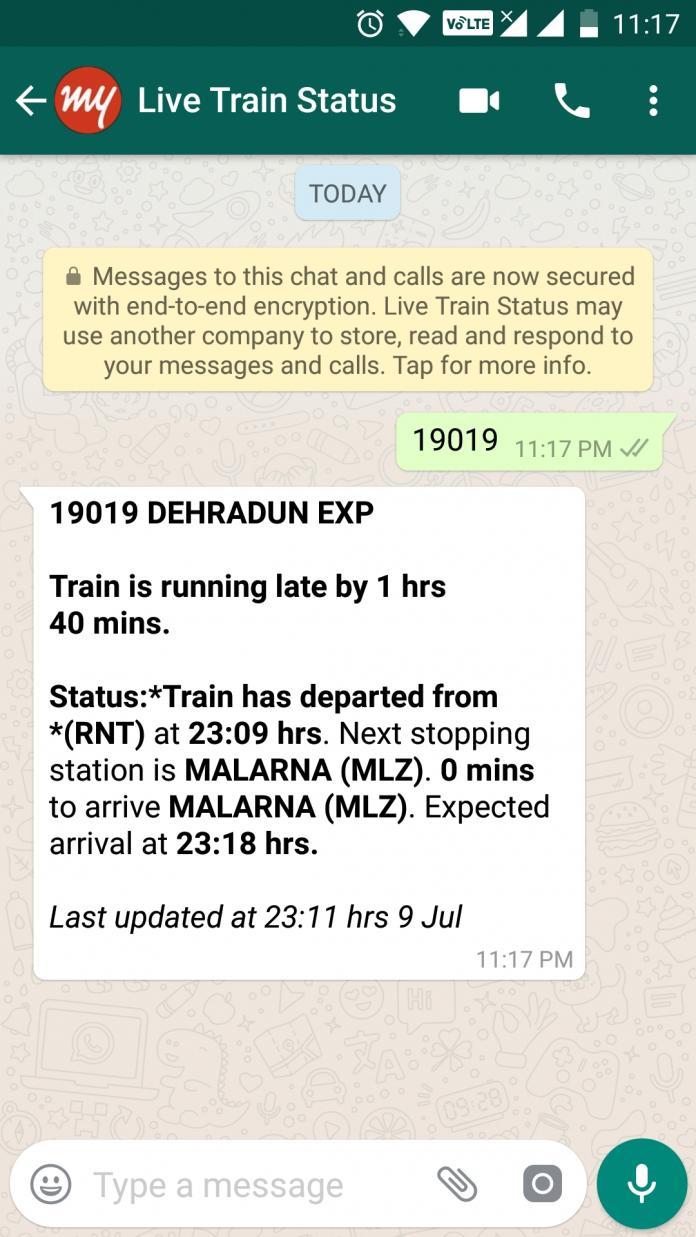 Whats Up Live Train Running Status