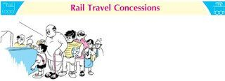 rail travel concession rule