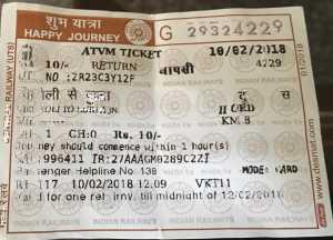 Various Train / Platform Ticket Fare details
