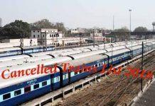 Cancelled Trains List 2018