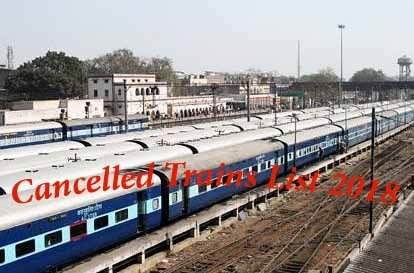 Cancelled Trains List 2018