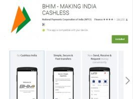App by Indian Railway for ticketing booking