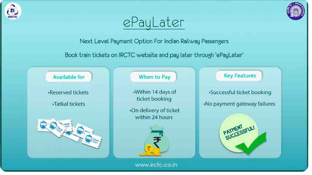 IRCTC Ticket Booking : E - PayLater Option