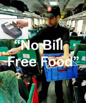 No Bill Free Food Policy on Trains