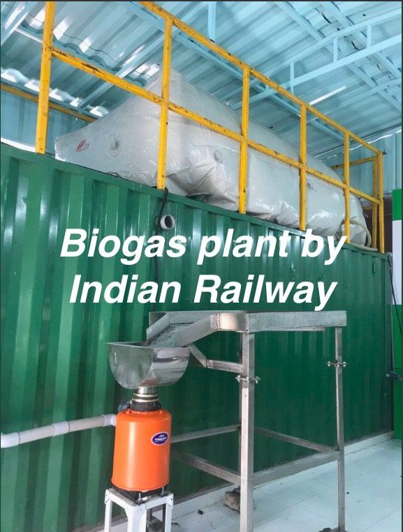 Biogas Plant by Indian Railway