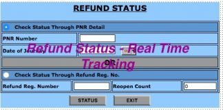 Real Time Tracking of Train Ticket Refund Status