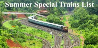 Summer Special Trains List 2019