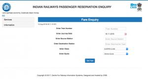 Revised Train fare by Railway