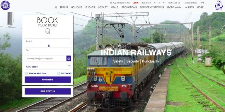 Revised Train Fare by Railway 2019