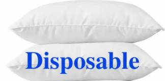 Disposable Pillow Covers and Napkins in Trains
