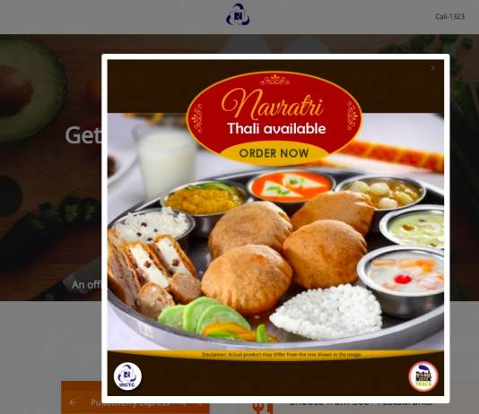 Navratri Food in Trains by IRCTC