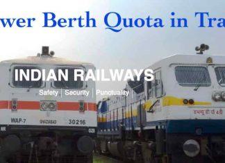 Lower Berth Quota in Trains