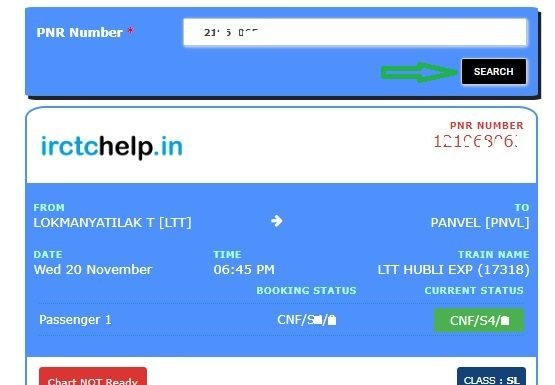 PNR Status Enquiry Live