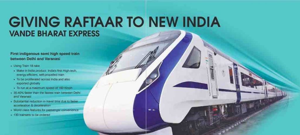 Vande Bharat Express : Main Features