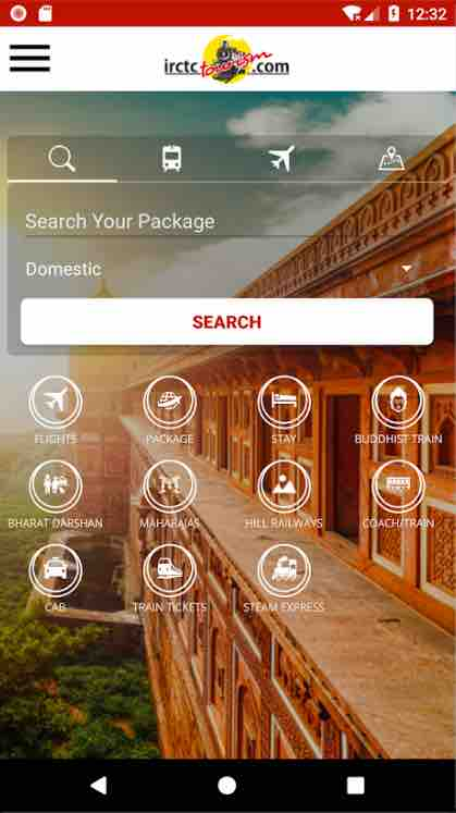 IRCTC Tourism Mobile Application