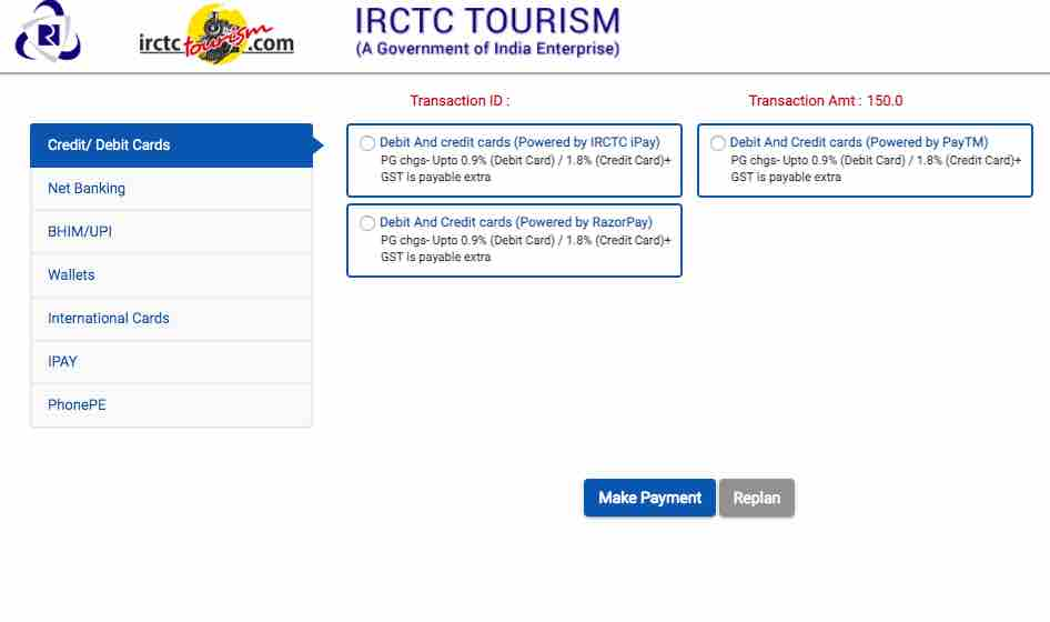 IRCTC Lounge railway station booking  payment