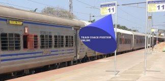 Find Train Coach Position Online