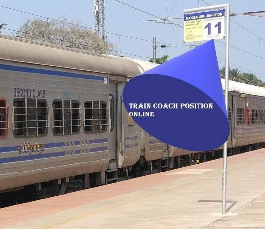 Find Train Coach Position Online