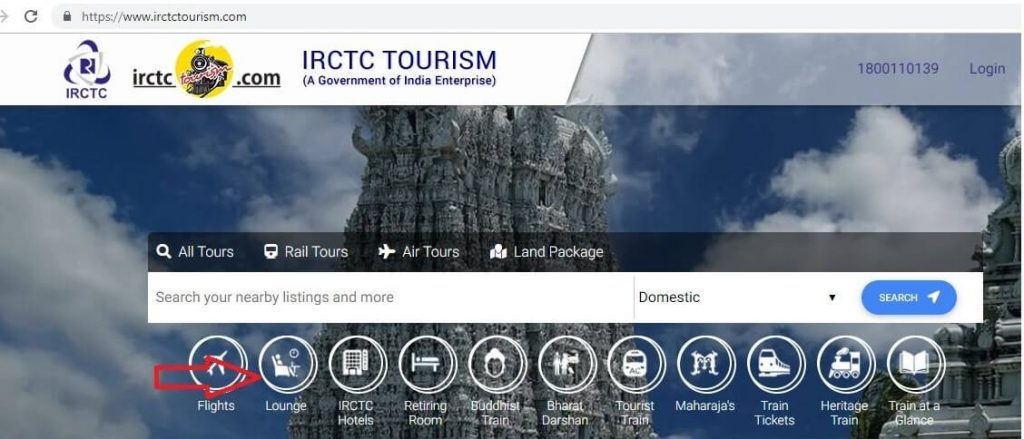 IRCTC Tourism Website Executive Lounge Booking Simple Steps