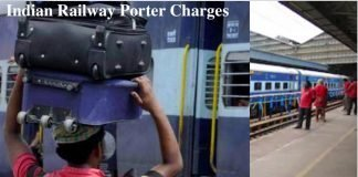 Indian Railway Porter Charges