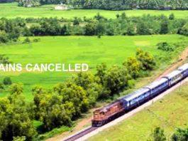 LANDSLIDE : TRAINS CANCELLED