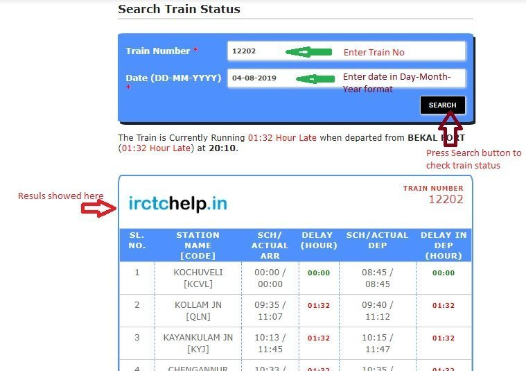 Find Where is My Train Now - Real time Train Track Online easy