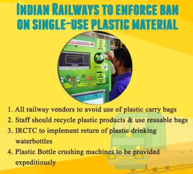 Railway Ban Use of Plastic
