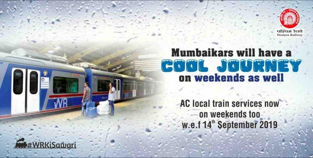 MUMBAI AC LOCAL TRAIN ON WEEKENDS