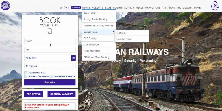 IRCTC Ticket Cancellation Rules