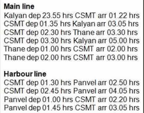 Ganpati Special Suburban Trains