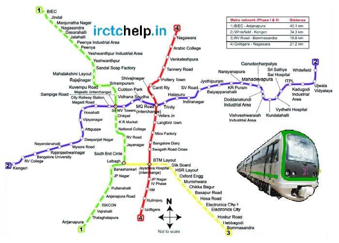 namma metro Latest Route map of Bangalore metro