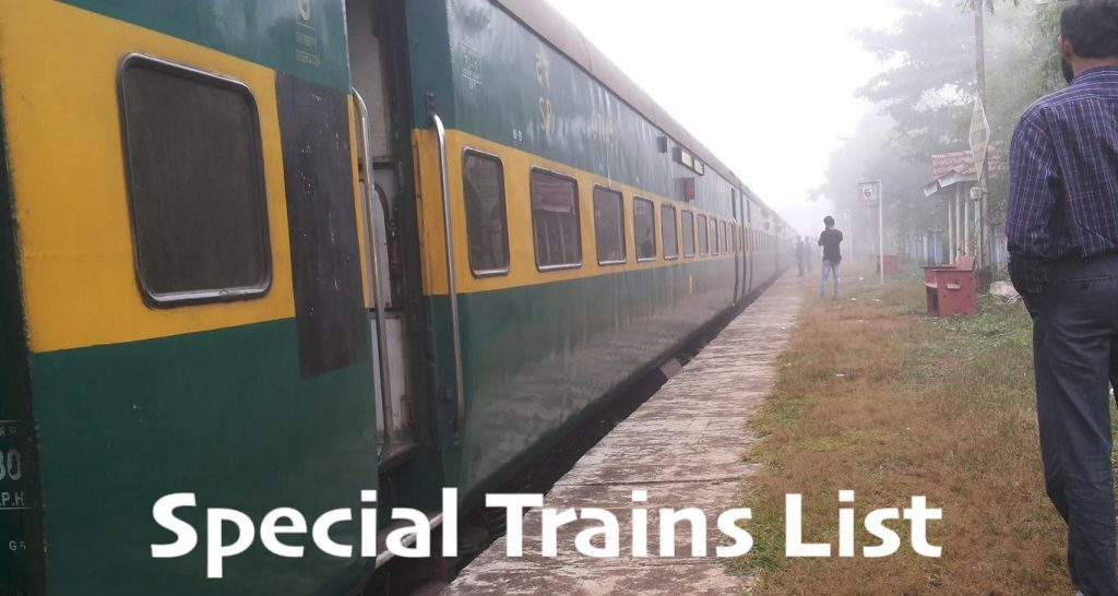 Special trains List 2020