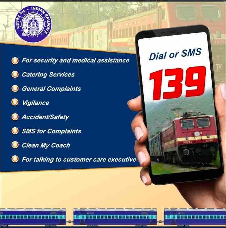 INTEGRATED HELPLINE NUMBER OF INDIAN RAILWAY (02.01.2020)
