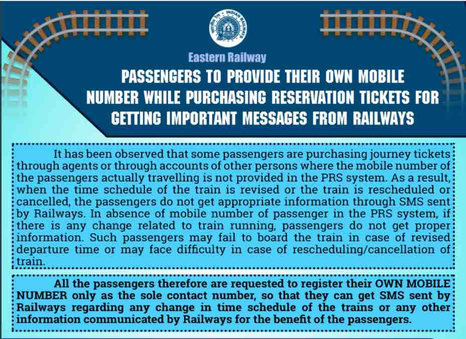 Mobile Number for Train Ticket Booking