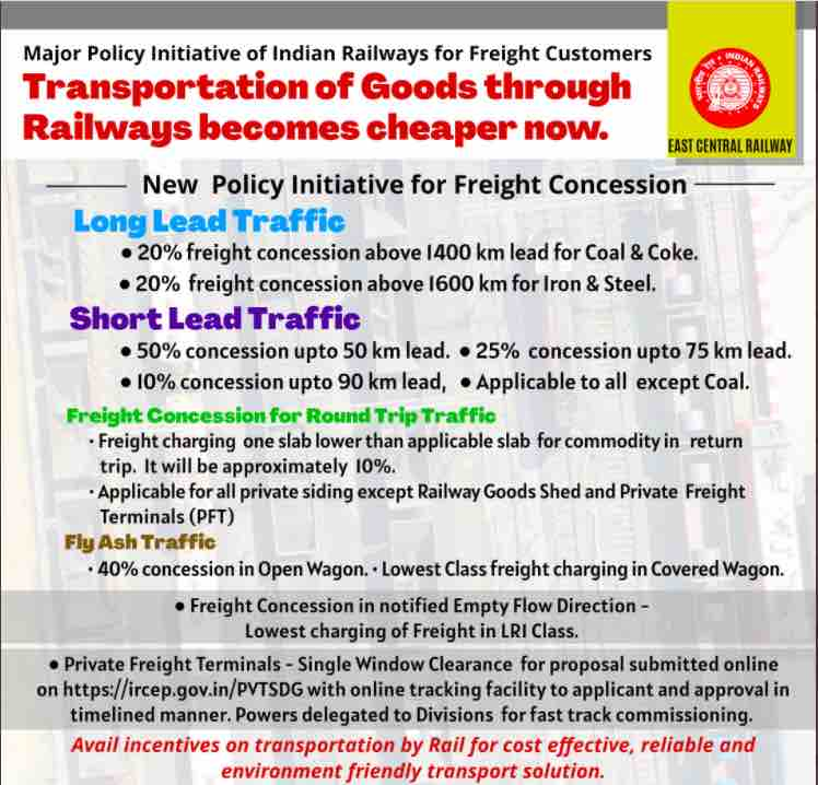New Policy Initiative for Freight Concession