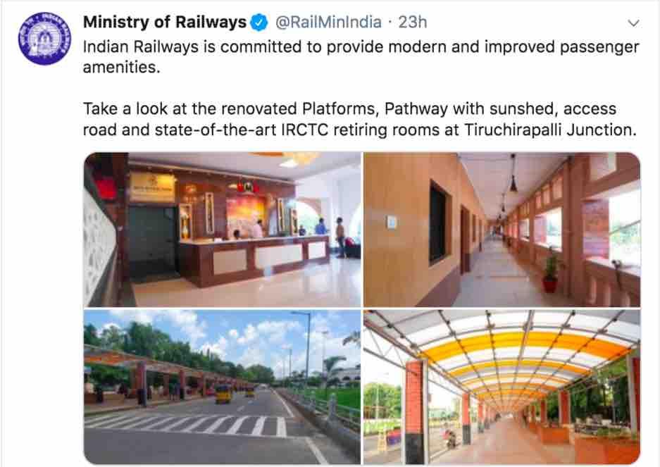 Tiruchirapalli Junction Retiring Rooms