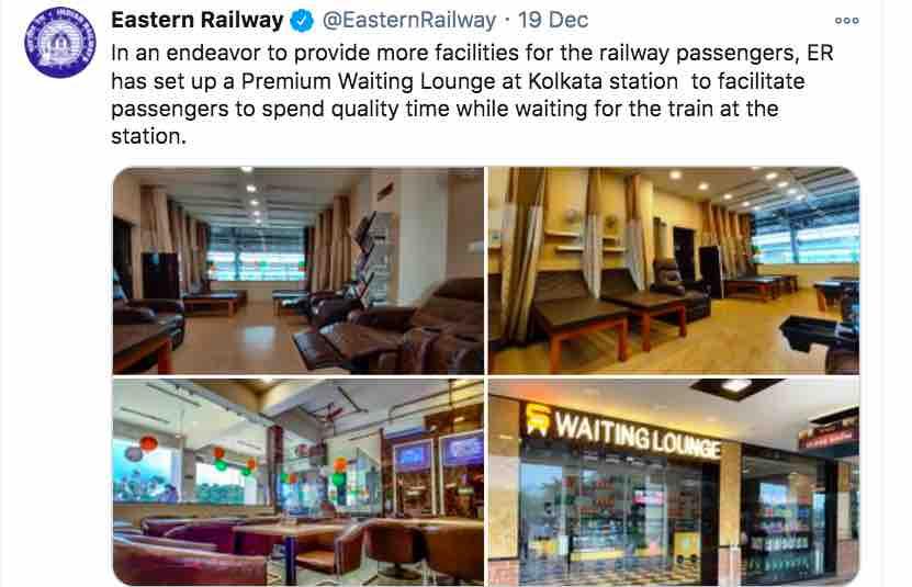 Kolkata Railway Station : Premium Waiting Lounge