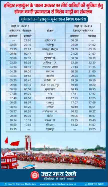 North Central Railway ~ Maha Kumbh Mela 2021 ~ Updates