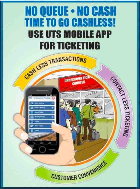 UTS Mobile App Reintroduced in Chennai Suburban  ~ 01.02.2021