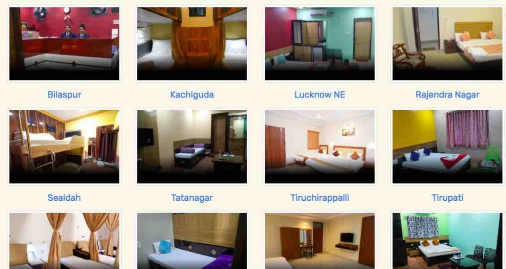 Retiring Rooms at Railway Stations