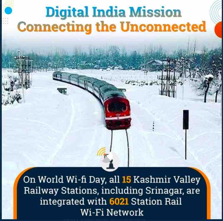 Rail Wi-Fi Network - 15 Kashmir Valley Railway Stations Get Connection