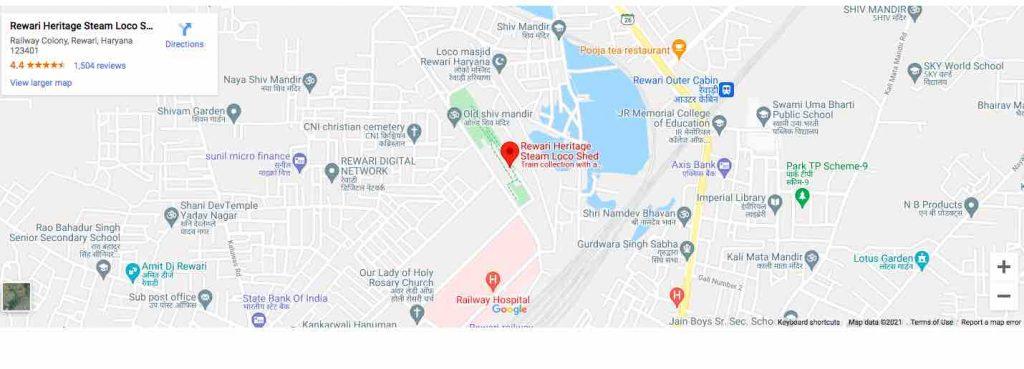 Rewari Steam Loco Shed - Route Map
